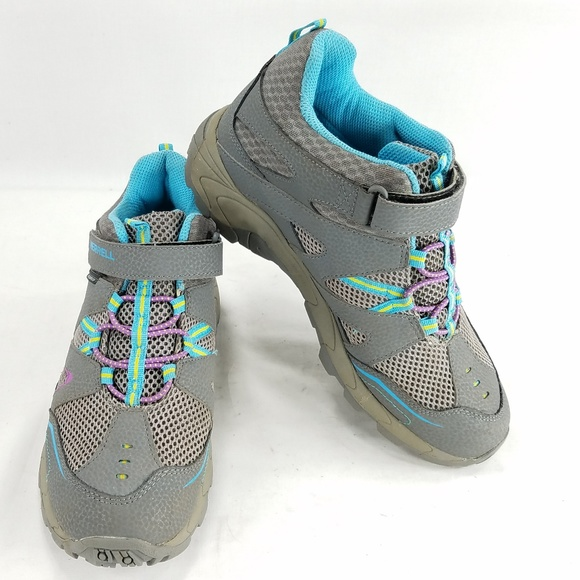 ce2a98d225a Merrell Girls Hilltop Mid Quick Close Hiking Shoes